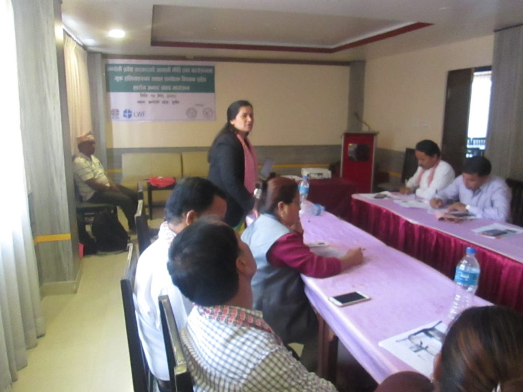 Hon_ble Bimala KC, Ministry of LMAC Karnali Province- Speaks on Program