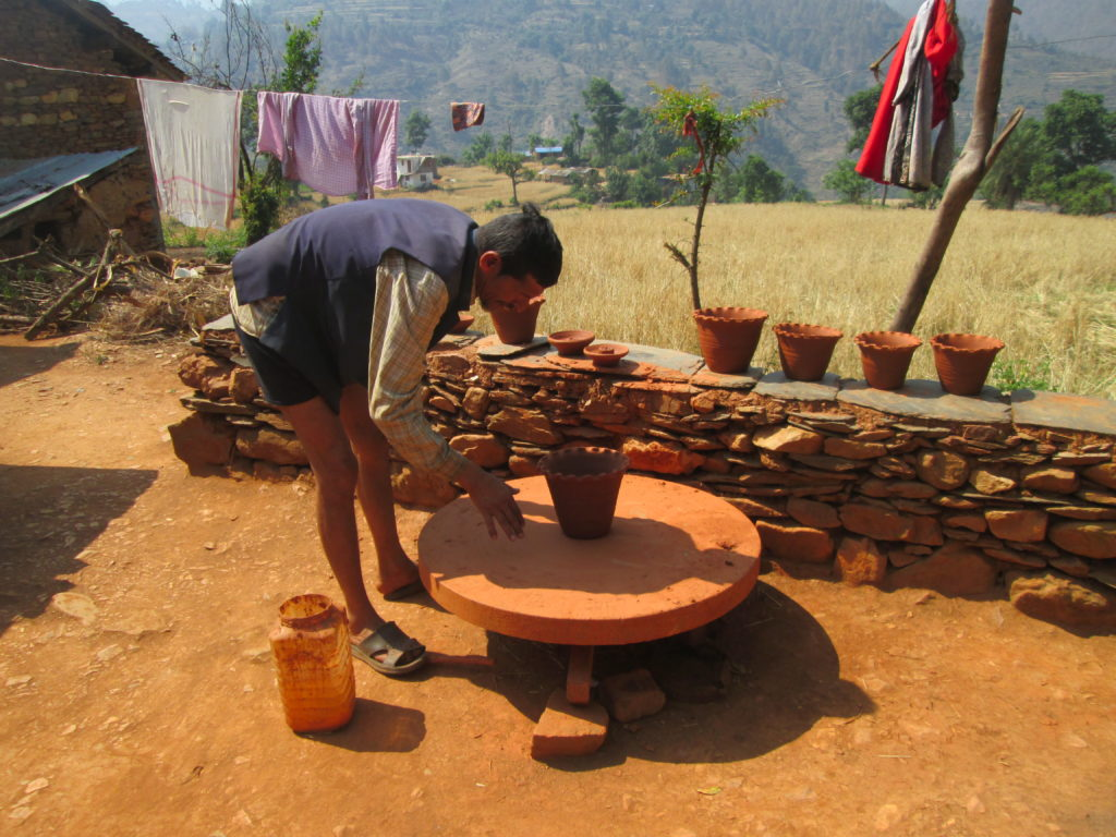 Mr. Mohani Kumal,Entreprenures of Ceramic ware at Patan