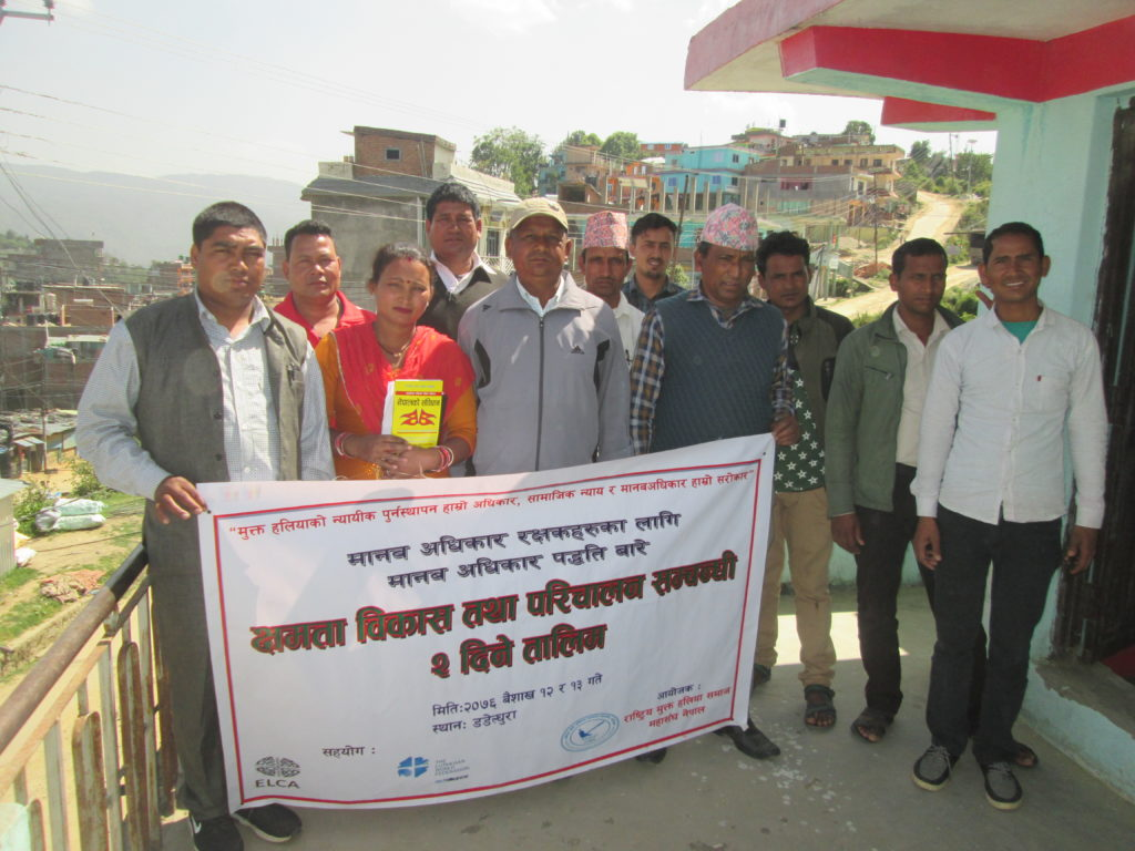 Photo of HRDs training at Dadeldhura- Photo taken by- Hari Singh Bohara