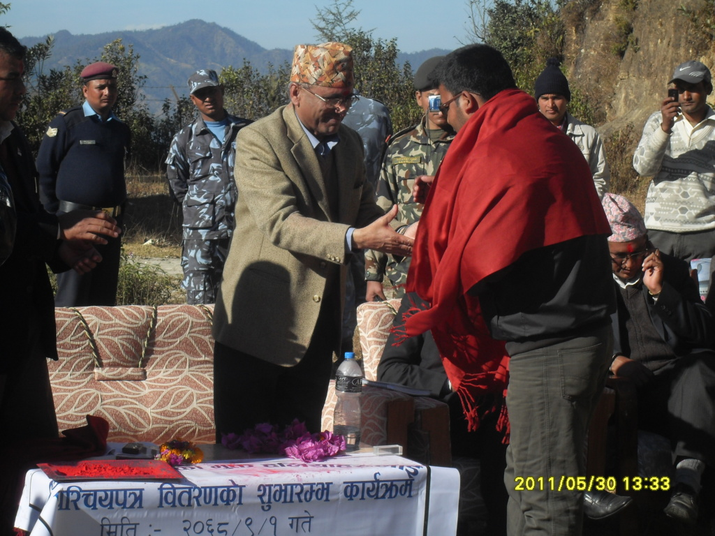 First time ID Card Distribuction photos of Dadeldhura