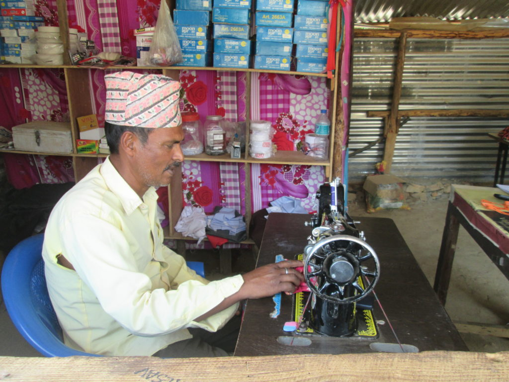 Sewing machine support to Mr. Bhani Aauji at Patan